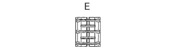 東日興産 コンバイン用 ゴムクローラー SB459049-E 450*90*49 パターンE 芯金W【法人のみ】【営業所留め可】