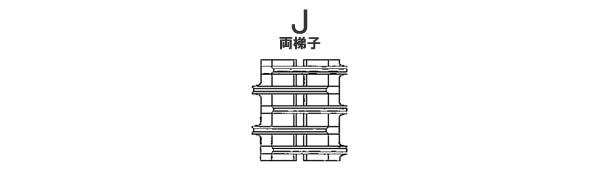 東日興産 コンバイン用 ゴムクローラー UR459049-J 450*90*49 パターンJ 芯金W【法人のみ】【営業所留め可】