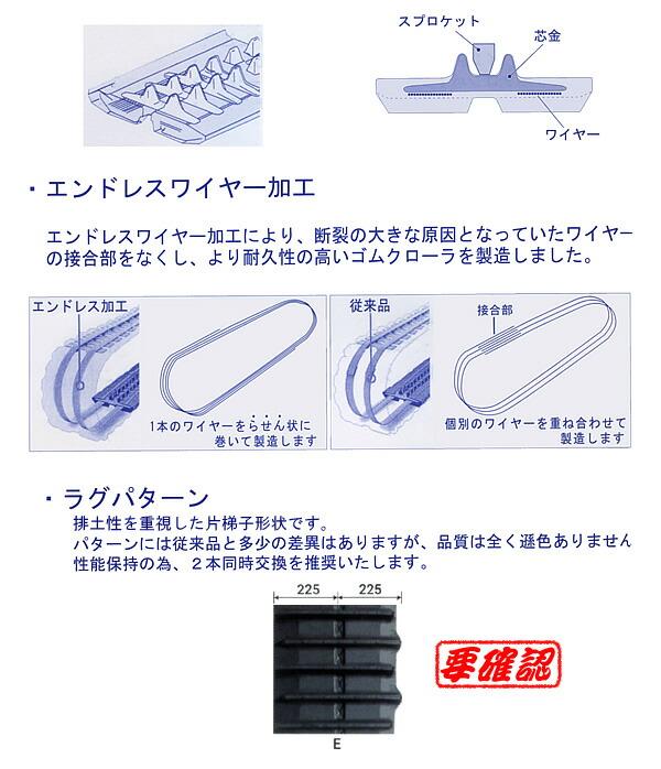 KBL コンバイン用ゴムクローラー 4546NEN 450x90x46 パターンE 芯金N【個人宅都度確認】【条件付送料無料】