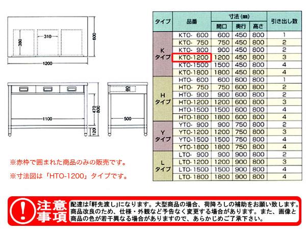 東製作所(azuma) 片面引出し付き作業台 KTO-1200 【個人宅都度見積り】