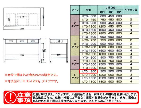 azuma 片面引出し付き作業台 LTO-900
