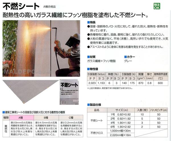 萩原工業 スパッタ(不燃)シート 1.90×1.92m 3枚セット グレー【地域別運賃】