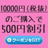 10000円以上のご注文で500円割引