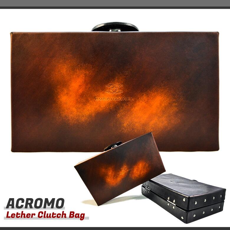 アクロモ ボックス クラッチバッグ