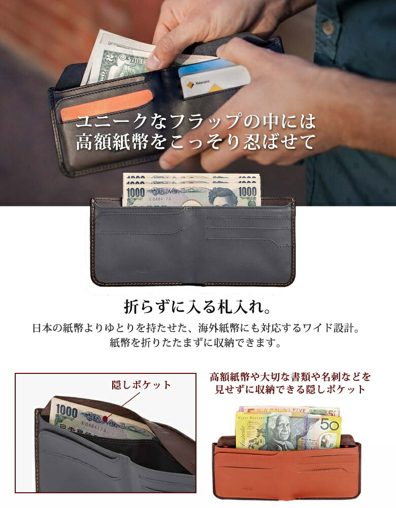 薄い財布 スキミング防止 ベルロイ Bellroy