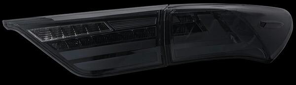 60系ハリアー用 LEDテールランプREVO レッドレンズ/クローム