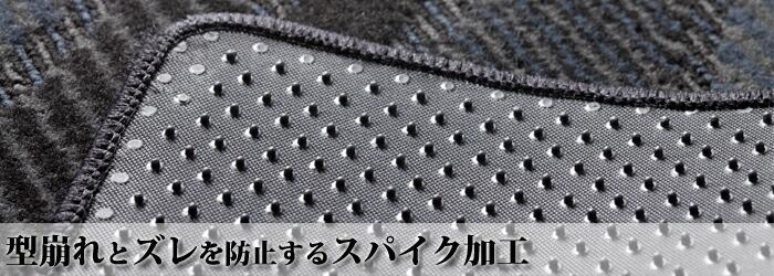 ズレ防止のスパイク加工