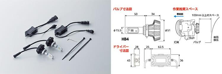 LEDバイカラーフォグバルブ HB4