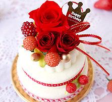 楽天ランキング1位♪選べるカラフル『プリザーブドフラワー ケーキ』