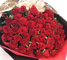 高級 赤バラ 60本の花束 還暦 豪華