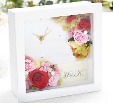 特別な時を刻む時計プリザ『ハッピーデイズ』happy days