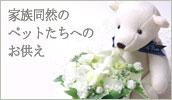犬、ねこちゃんなどペットへのお供えの花