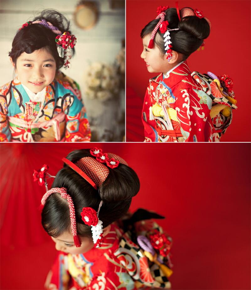 Seven-Five-Three Festival plum hair ornament