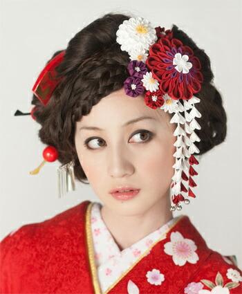 日本髪 結綿 藤娘