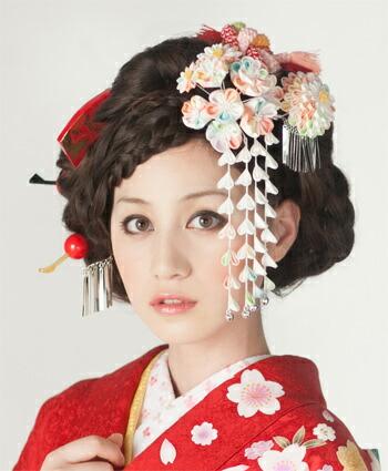 日本髪 結綿 椿