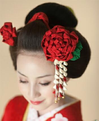 【日本髪用】つまみかんざし・髪飾り 京都 おはりばこ 成人式・振袖・卒業式・結婚式の髪飾り