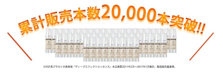 販売本数2万本