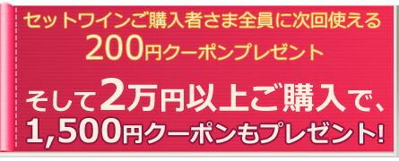 2万円以上ご購入で1500円クーポン