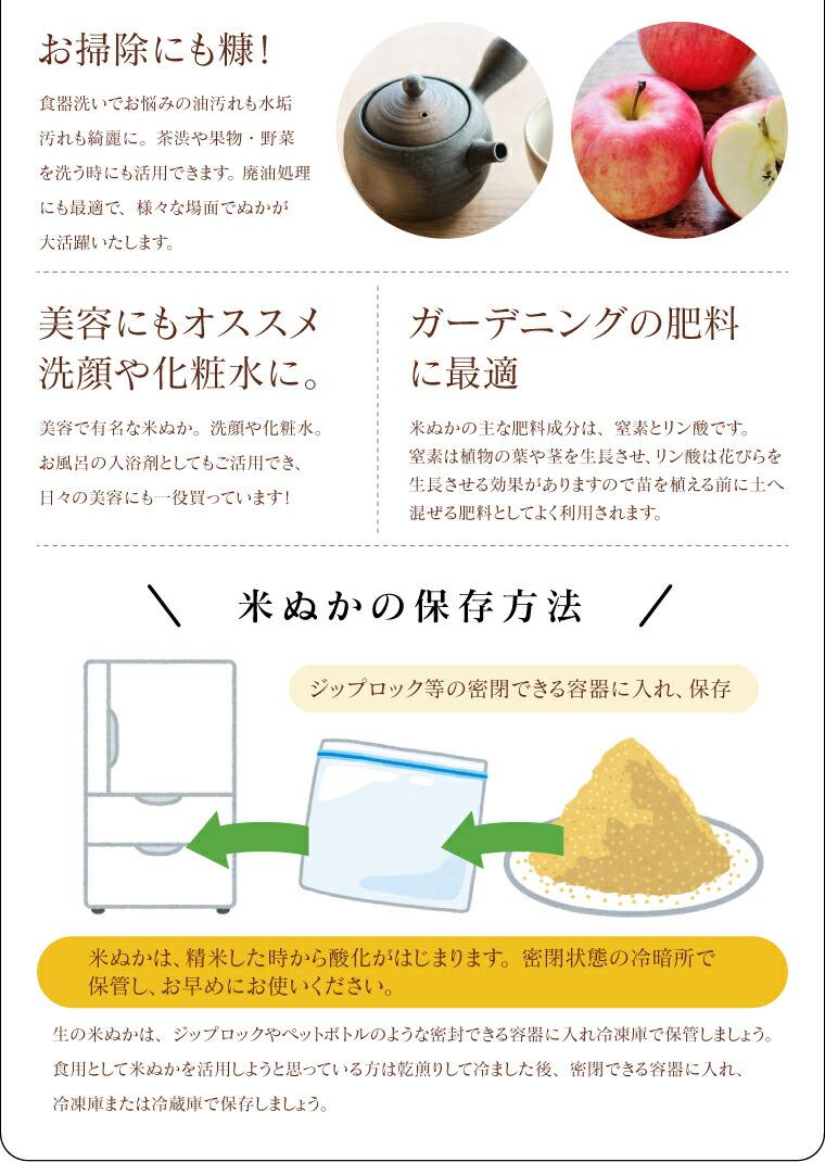 米ぬか無料!米ぬかの保存方法