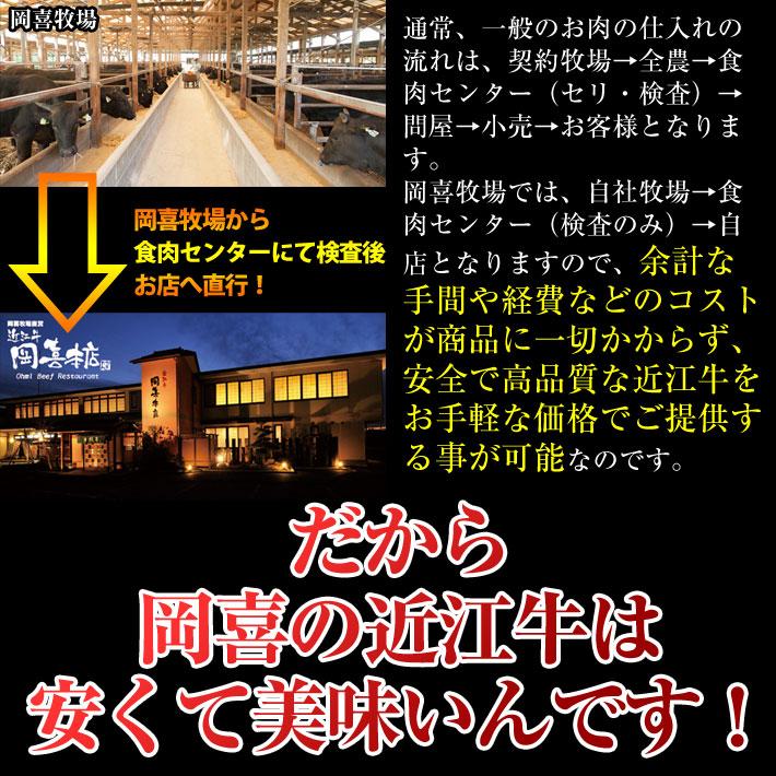 だから岡喜の近江牛は安くて美味いんです!