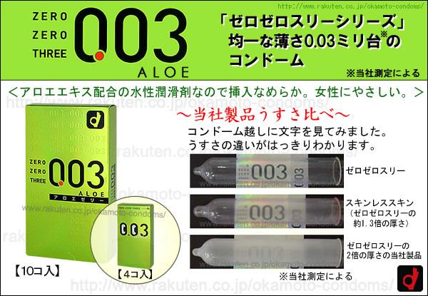 コンドーム「003アロエ」