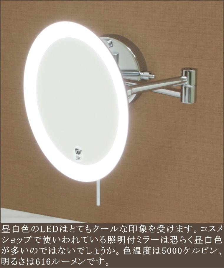 高品質高性能3倍率拡大鏡 ミラー昼白色LED