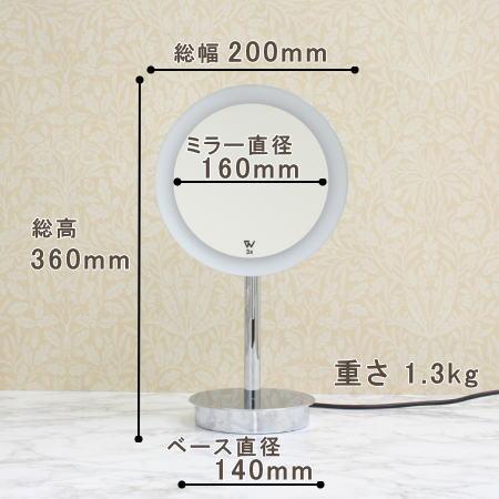 内照式3倍率拡大鏡wi651cr3xのサイズ