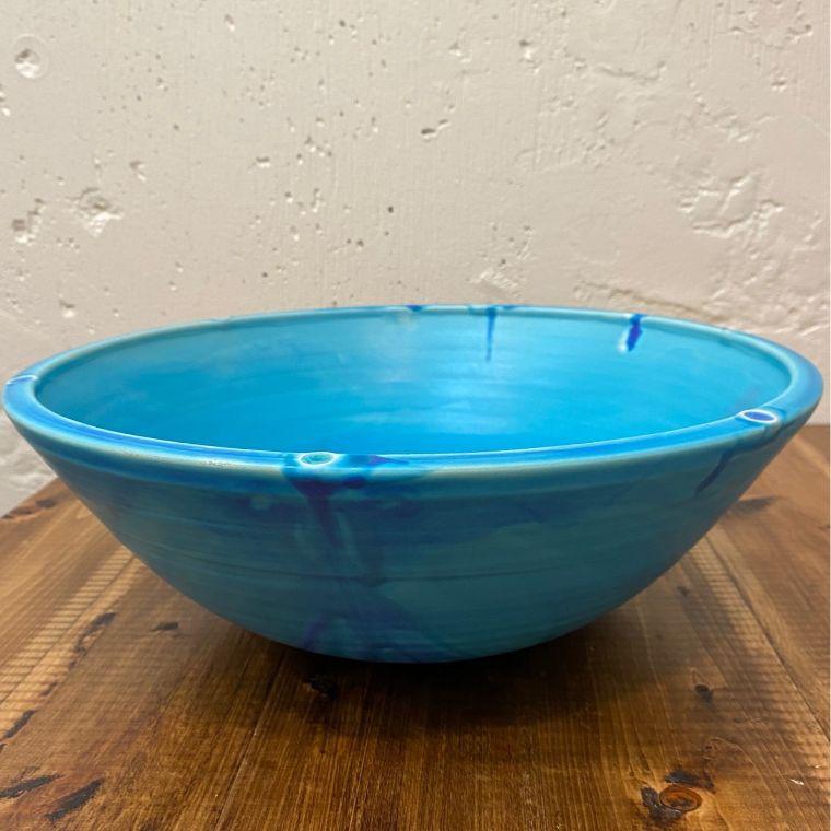沖縄陶器と琉球ガラスの手洗いボウル