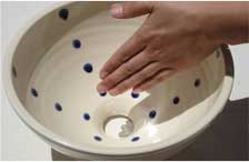 洗面鉢カテゴリ:女性に人気ドット模様系