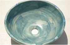 洗面鉢カテゴリ:陶と琉球ガラスの洗面鉢