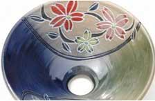 洗面鉢カテゴリ:琉球紅型模様洗面鉢