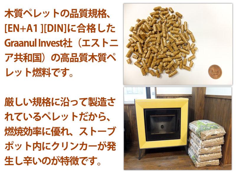 EN+規格、DIN規格対応 高品質木質ペレットの説明
