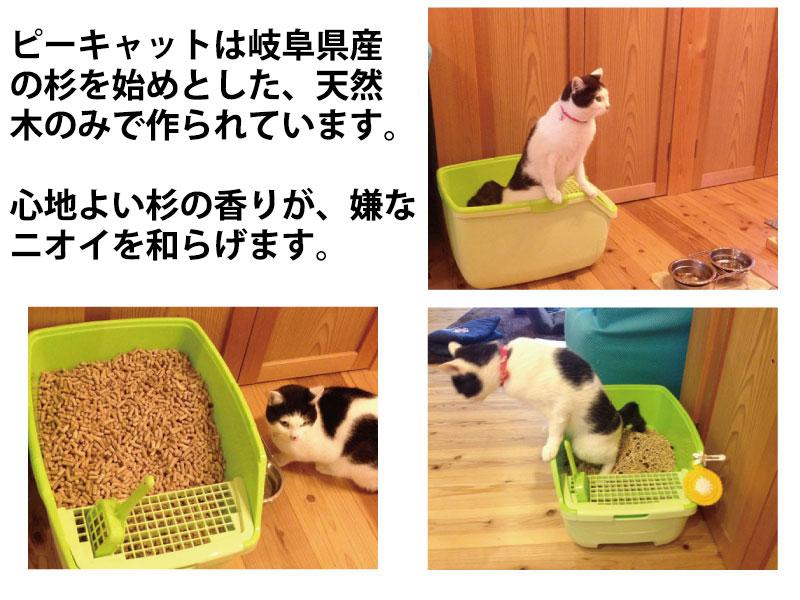 奥美濃の里木質ペレットは猫砂、猫のシステムトイレにも使える