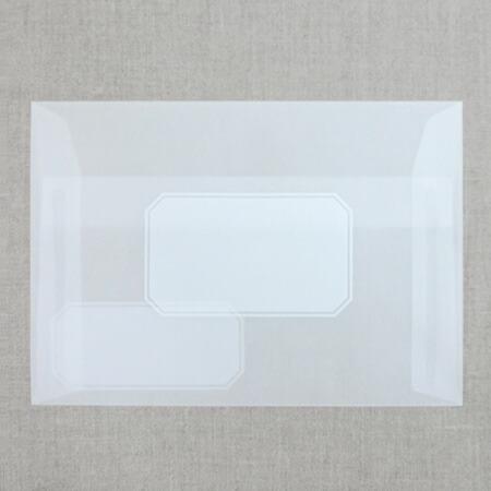 ラベルを印刷した半透明の封筒 3枚入り
