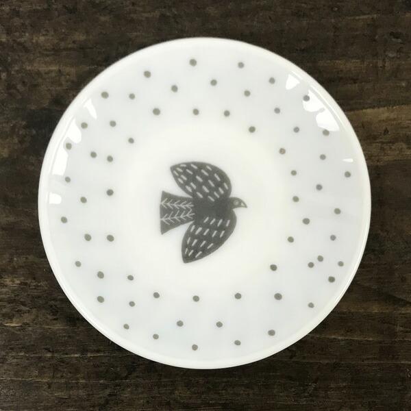 松尾ミユキ ミルクガラス バード ソーサー
