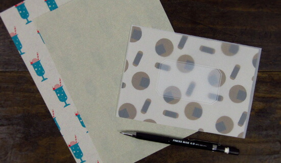 水縞 おやつ包み紙レターセット