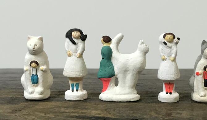 にしおゆき 陶製人形 大きなしっぽ
