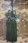 天然紋竹四方縁銀いぶし平かぎ付