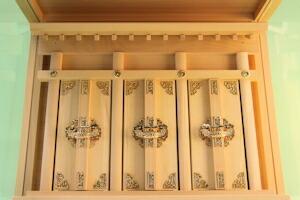 【神具】筋幕聖箱宮神殿(小)聖13号吊下式(神棚)[壁掛けタイプ]【宮形・札宮・お宮】