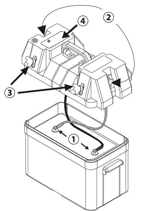 バッテリーコントロールボックスの特長部分の詳細