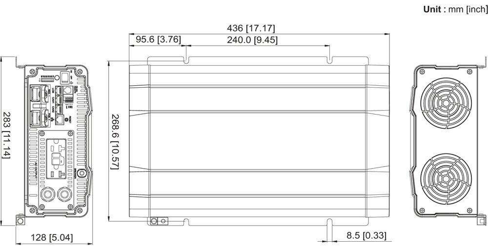 SD2500インバーター外形寸法
