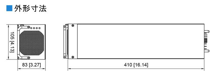 コーテックSR1600-plusインバーターの外形寸法