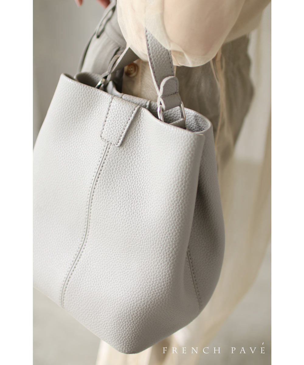 「french」インナーバッグ付きお役立ちシンプルバッグ