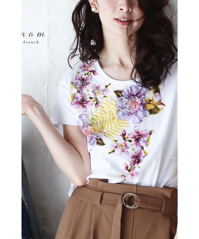 花Tシャツ