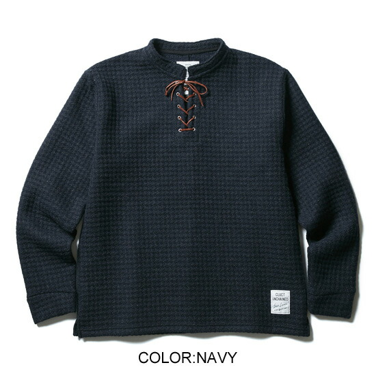 CLUCT クラクト LACE UP WOOL PULLOVER