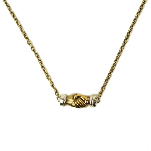 CLUCT クラクト ANTIQUE HAND SHAKE NECKLACE