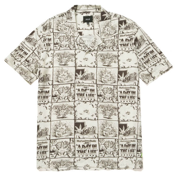 HUF/ハフ DAY IN THE LIFE S/S WOVEN TOP