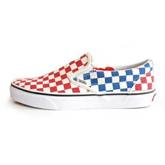 VANS SURF/バンズ CLASSIC SLIP-ON RED/BLUE