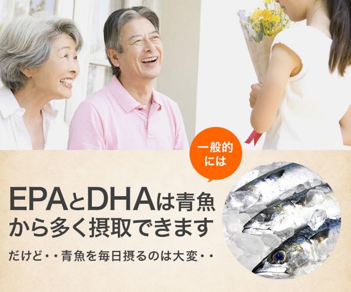 一般的にはEPAとDHAは青魚から多く摂取できます