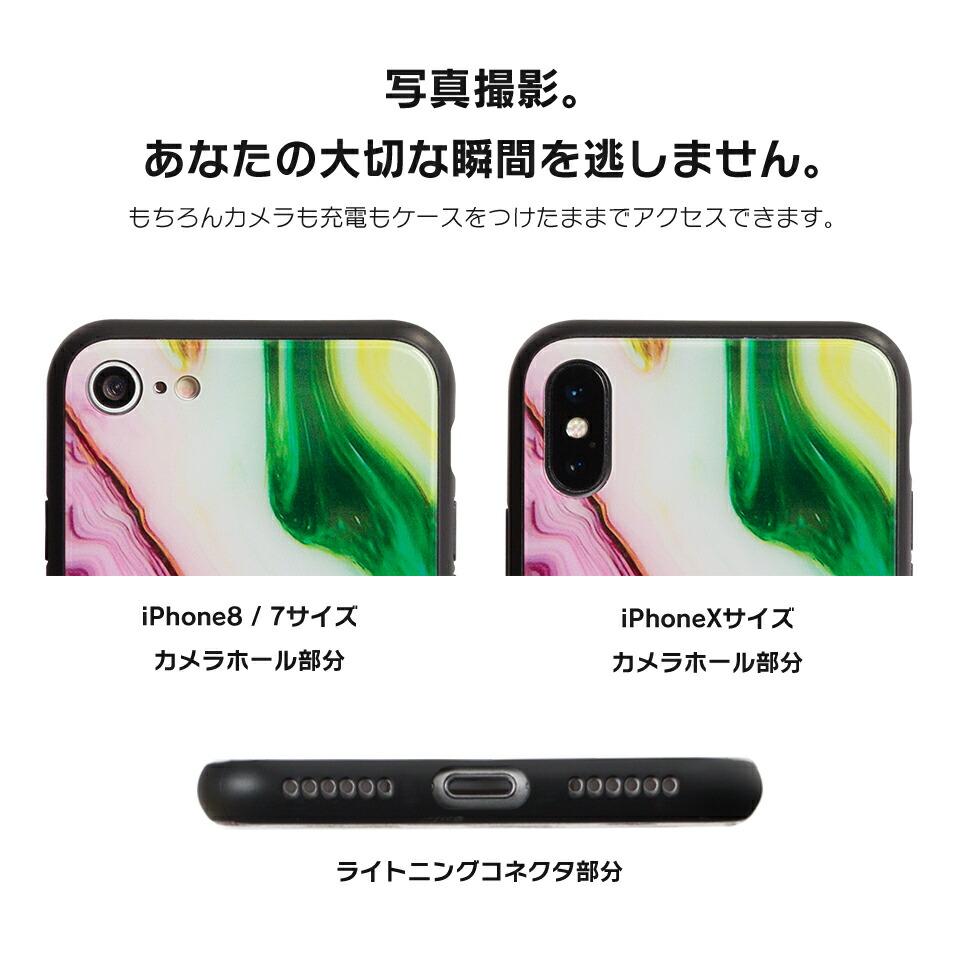 デザインモバイルdesign mobile iphone7 アイフォン7 ソフトケース べっ甲 大理石 マーブル おしゃれ